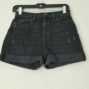 BDG Mom high rise black shorts